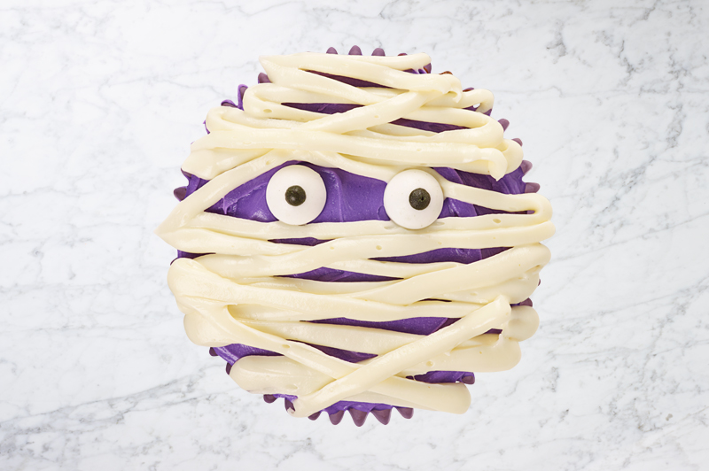 Purple Mummy Cupcake