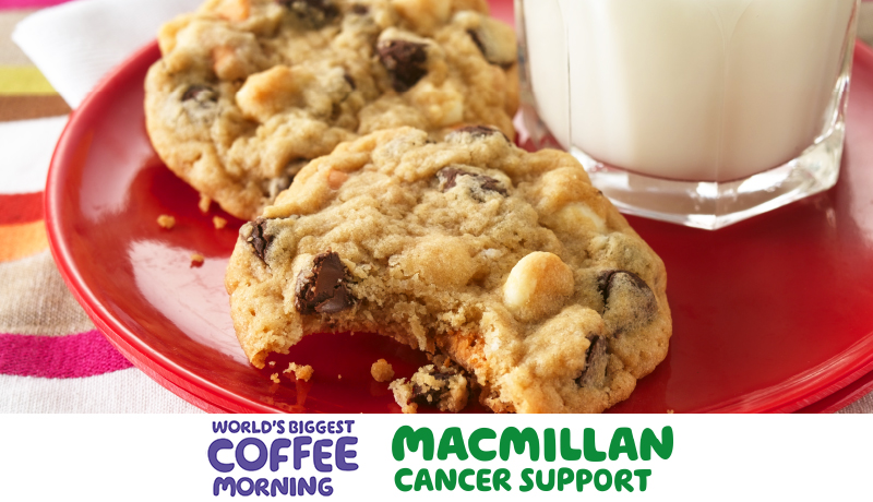 triple chip cookiestriple chip cookies coffee morning macmillan promotion banner