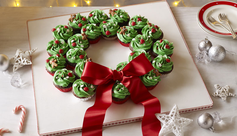 Christmas Cupcake Wreath Recipe