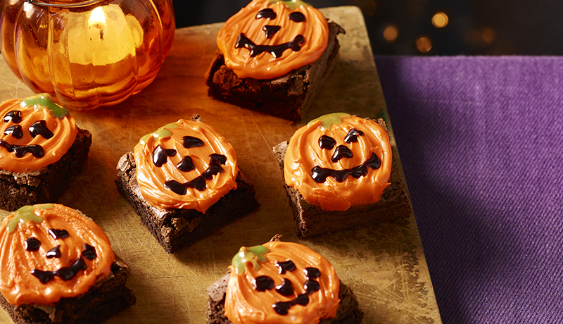 Halloween Pumpkin Brownies