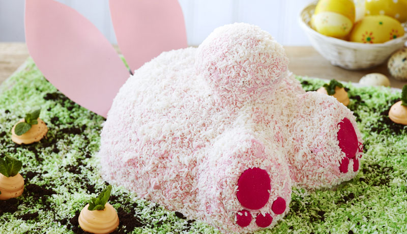Hide-and-Seek Easter Bunny Cake