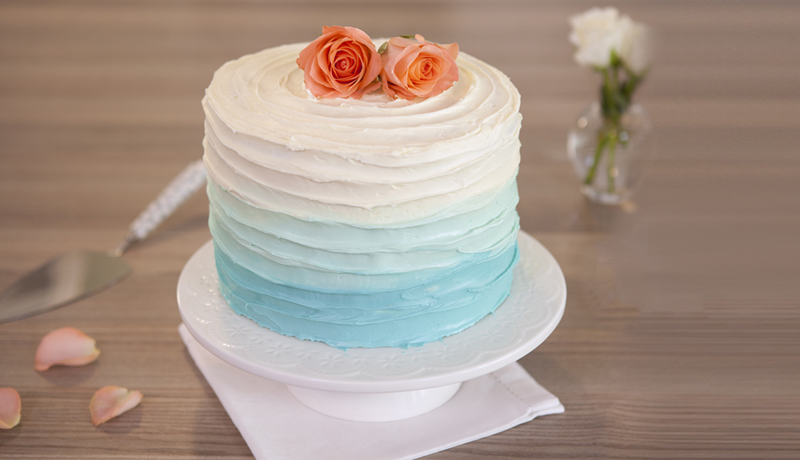 Blue Ombre Cake Recipe Easy Cake Recipe Betty Crocker