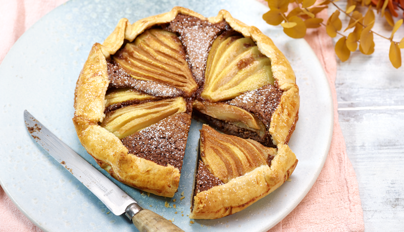 Chocolate Hazelnut Pear Galette
