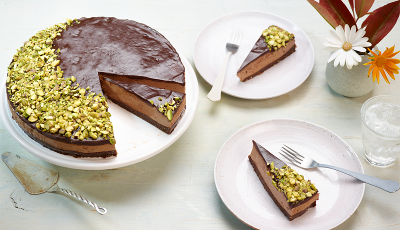 Chocolate and Hazelnut Yogurt Mousse Cake