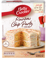 Rainbow Party Chips Cake Mix