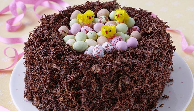 Chocolate Nest Cake Easy Easter Baking Recipes Betty