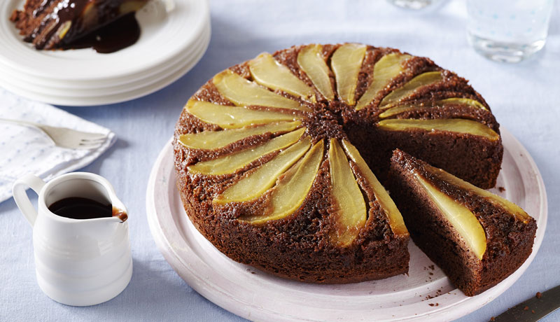 Chocolate Pear Upside Down Cake Recipe Betty Crocker