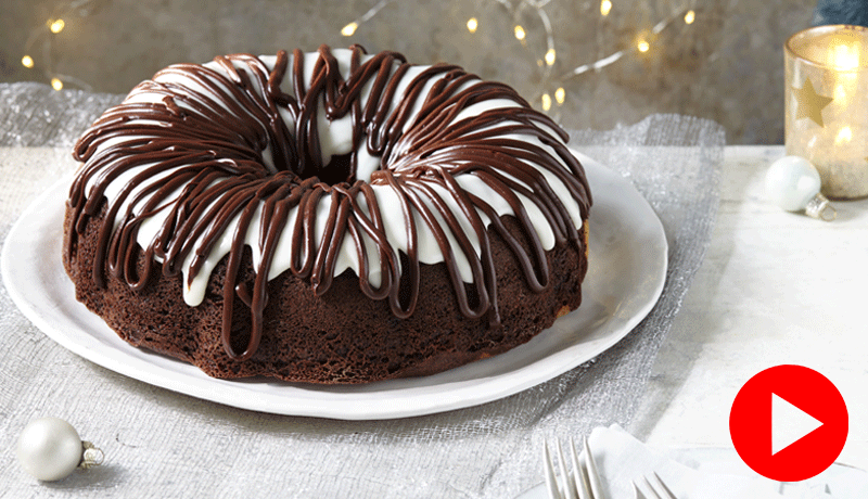 Chocolate Cheesecake Swirl Bundt Cake