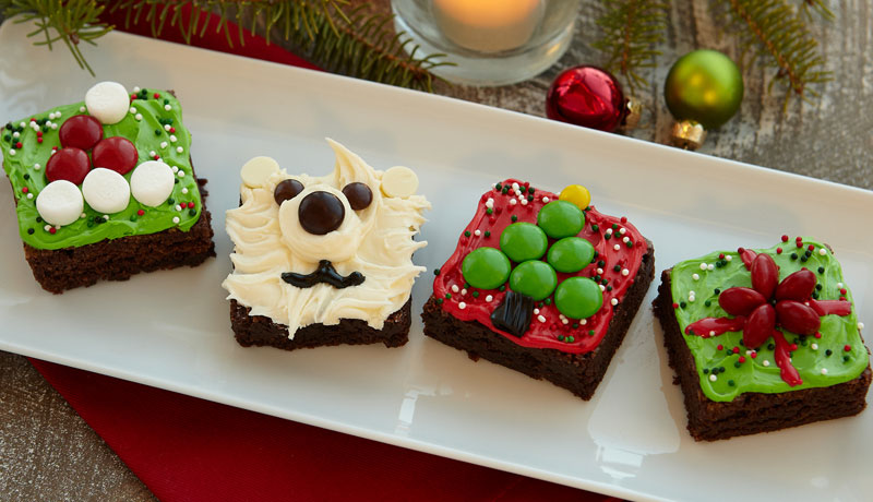 Christmas Brownie Squares