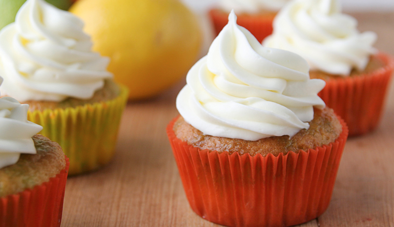 Lemon Cupcakes Recipe with Lime and Orange