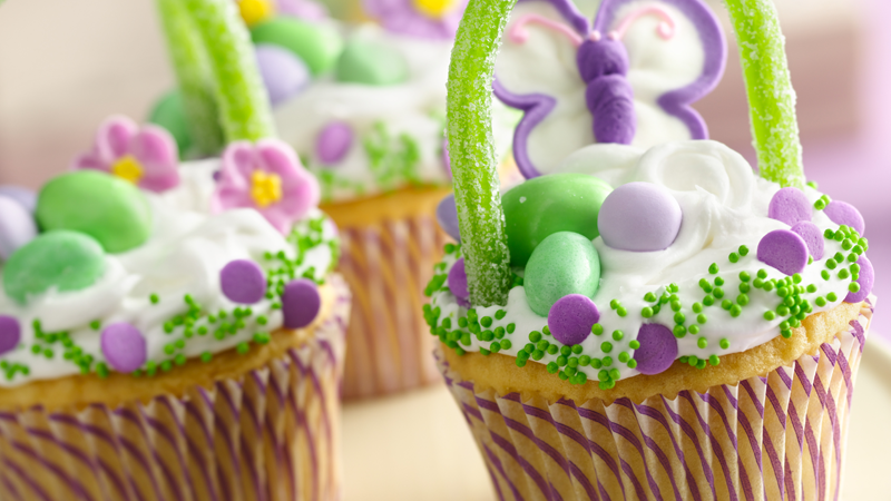 Easter Basket Cupcake Recipe Easy Easter Recipe Betty