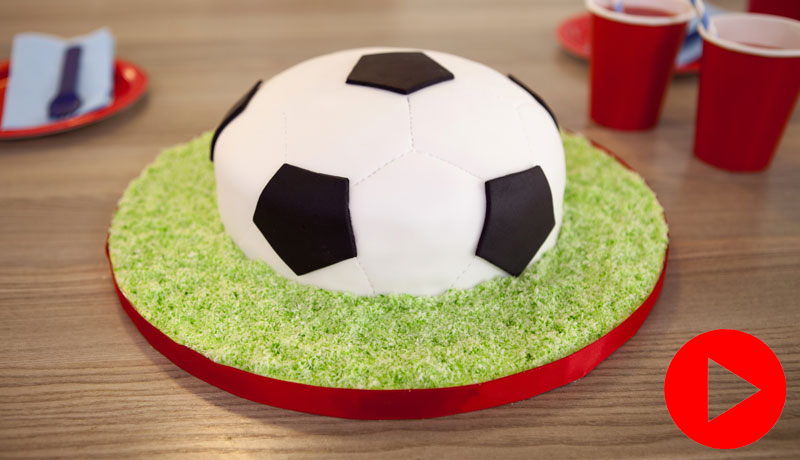 Excellent How To Make A Football Cake Easy Cake Recipes Betty Crocker Personalised Birthday Cards Paralily Jamesorg