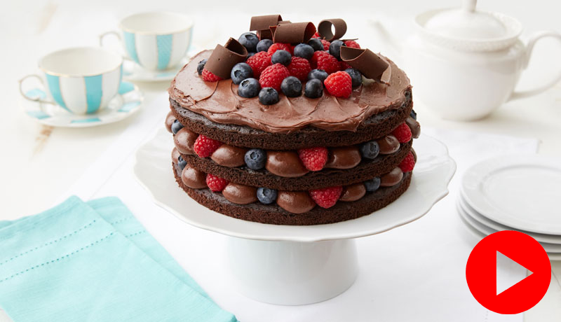 Gluten-Free Chocolate & Raspberry Layer Cake