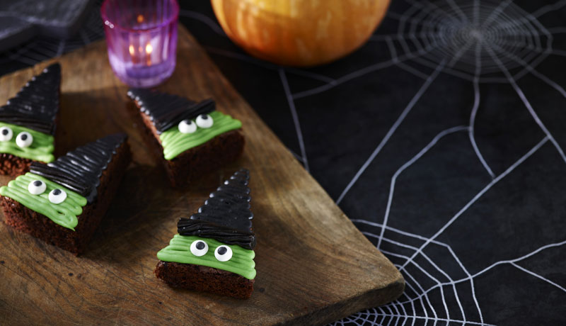 Halloween Witch Brownies