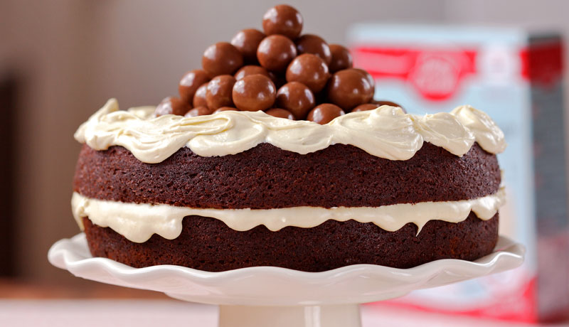Malted Chocolate Cake
