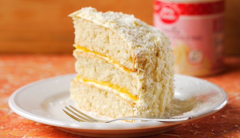 Mango and Coconut Layer Cake