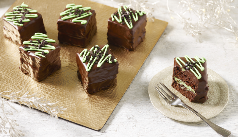 Mint Layered Fondant Brownies