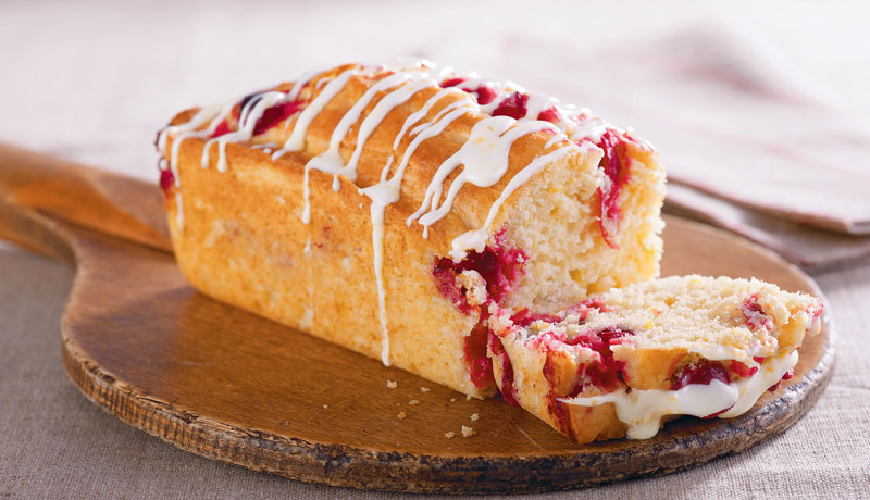 Orange and Cranberry Loaf Cake
