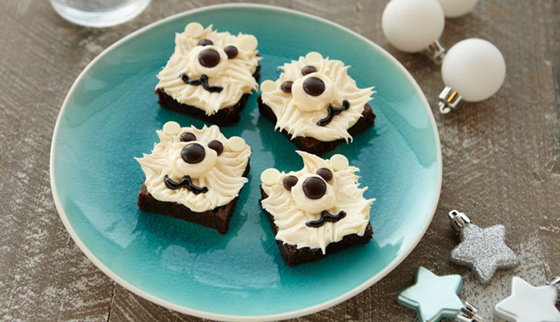 Polar Bear Brownie Squares