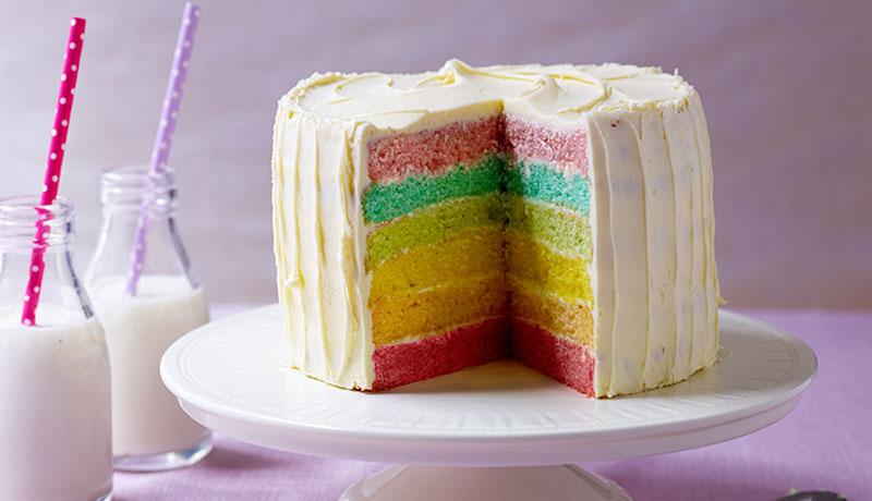 Rainbow Cake Easy Birthday