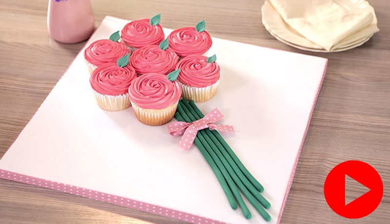 Rose Bouquet Cupcakes