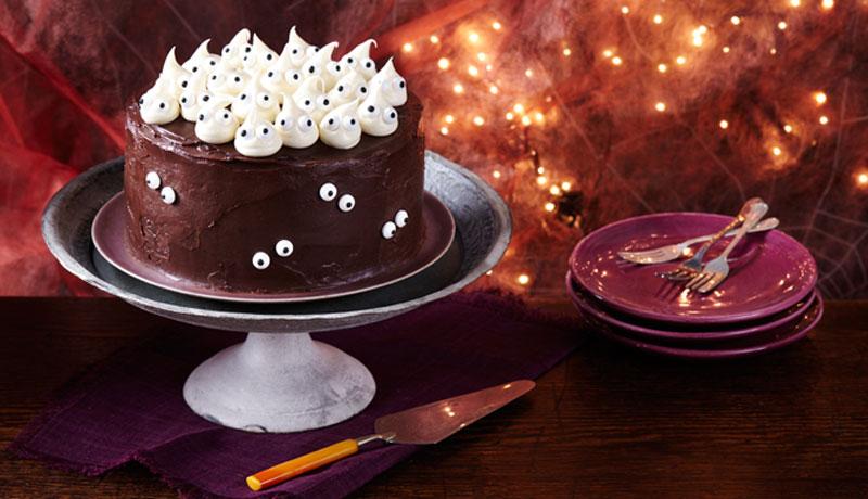 Halloween Ghost Cake Recipe   Easy Cakes   Betty Crocker
