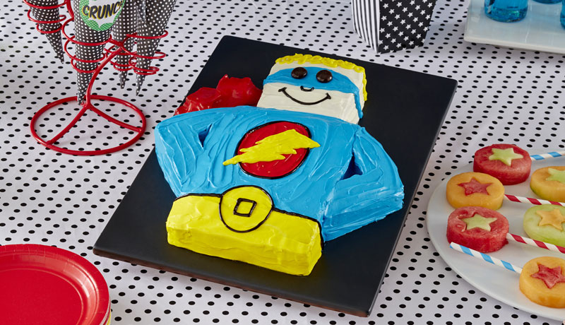 Stupendous Superhero Birthday Cake Recipe Easy Cakes Betty Crocker Personalised Birthday Cards Rectzonderlifede