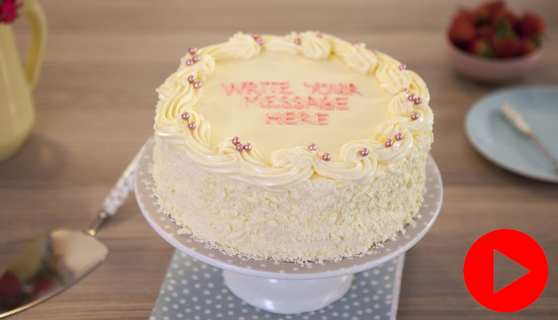 how to make a vanilla cake with icing inside